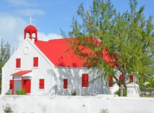 Caribbean church architechture. On Grand Turk Island, Turks and Caicos Royalty Free Stock Images