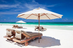 Caribbean coast. Beautiful Caribbean coast in Tulum Mexico stock images