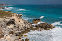 Caribbean coast of Isla Mujeres, near Cancun Stock Photos