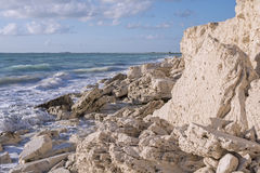 Caribbean coast near Isla Blanca, Quintana Roo, Mexico Royalty Free Stock Photo