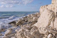 Caribbean coast near Isla Blanca, Quintana Roo, Mexico royalty free stock photo