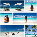Caribbean collage Royalty Free Stock Images