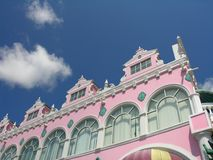 Caribbean Colors. Caribbean architecture in Oranjestad / Aruba Stock Photography