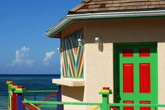 Caribbean Colours. Colourful buildings in Cockburn on Grand Turk island, Turks & Caicos Stock Photos