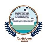 Caribbean Cruise  Design. Lllustration Royalty Free Stock Image