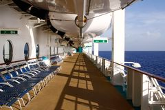 Caribbean Cruise - Early Morning Empty Deck Stock Photos