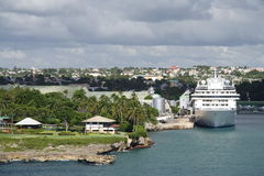 Caribbean Cruise Port Stock Photography