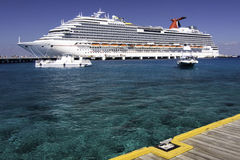 Caribbean Cruise - Port of Cozumel Royalty Free Stock Photo