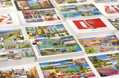 Caribbean cruise ports of call picture postcards Royalty Free Stock Photos