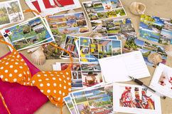 Caribbean cruise ports of call picture postcards w Royalty Free Stock Photography