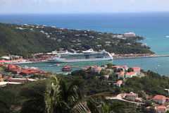 Caribbean Cruise Ship Royalty Free Stock Photo