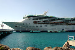Caribbean Cruise Ship Stock Image