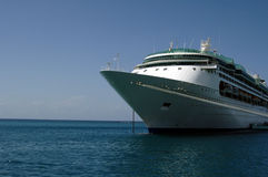 Caribbean Cruise ship. A cruise ship anchored in the caribbean