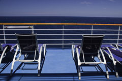 Caribbean Cruise Solitude - Copy Space Royalty Free Stock Photos