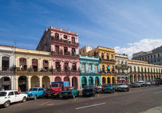 Caribbean Cuba Havana building on the main street Stock Photo