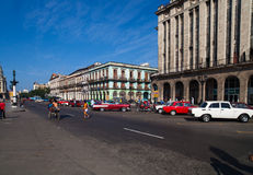 Caribbean Cuba Havana main road in front of the Capitol Royalty Free Stock Images