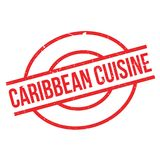 Caribbean Cuisine rubber stamp. Grunge design with dust scratches. Effects can be easily removed for a clean, crisp look. Color is easily changed Royalty Free Stock Photography
