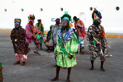 Caribbean dancers. A typical traditional carib dance in roatan island in honduras.january 2008 Stock Images