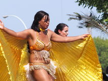 Caribbean Dancers In K-Days Parade Stock Photos