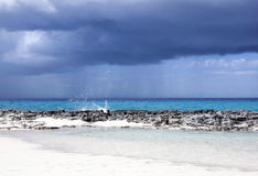 Caribbean Dark Clouds Stock Photo