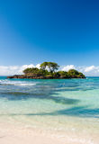 Caribbean Deserted Island. Small Island near Samana, Dominican Republic Stock Photos