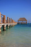 Caribbean dock. Beautiful dock in Caribbean waters. Also available in horizontal stock photos