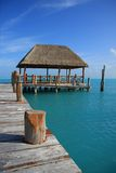 Caribbean dock. Beautiful dock in Caribbean tropical waters. Also available in horizontal royalty free stock images