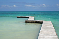 Caribbean Dock Stock Image
