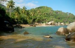 Caribbean Dream. Beach in Tayrona National Park Stock Photos