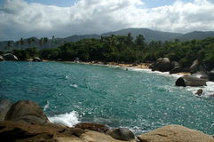 Caribbean Dream. Beach in Tayrona National Park Stock Images