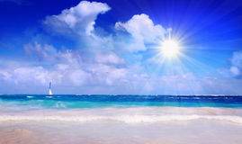 Caribbean Dream beach. Royalty Free Stock Photos