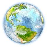 Caribbean on Earth isolated Stock Photo
