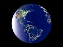 Caribbean on Earth from space royalty free stock images