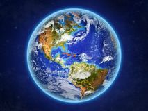 Caribbean on Earth from space stock illustration