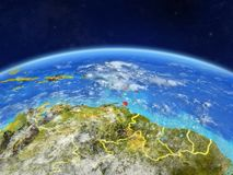 Caribbean on Earth from space royalty free stock photos