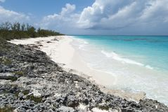 Caribbean Empty Beach Royalty Free Stock Photography