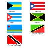 Caribbean Flags. Flags of the Caribbean royalty free illustration