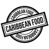 Caribbean Food rubber stamp Royalty Free Stock Image