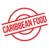 Caribbean Food rubber stamp Stock Photography