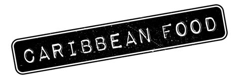 Caribbean Food rubber stamp Stock Photo