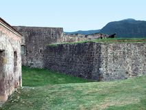 Caribbean fortification Stock Images