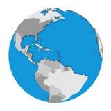 Caribbean on globe Royalty Free Stock Photography