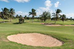 Caribbean golf fields in tropics Stock Photo