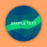 Caribbean green with orient polygonal background. Round polygonal background for text or anyone else Stock Image