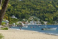 Caribbean harbor view Stock Photography