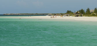 Caribbean holiday, Cuba. Wild sandy beach Playa Pilar at Cayo Guillermo island, Cuba Stock Photos