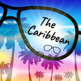 Caribbean Holiday Indicates Go On Leave And Vacation. Caribbean Holiday Representing Go On Leave And Time Off Royalty Free Stock Photography
