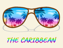 Caribbean Holiday Represents Go On Leave And Break. Caribbean Holiday Showing Go On Leave And Caribe Vacational Royalty Free Stock Photo