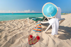 Caribbean holidays on the beach Royalty Free Stock Images
