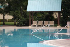 Caribbean Hotel Pool Stock Photography